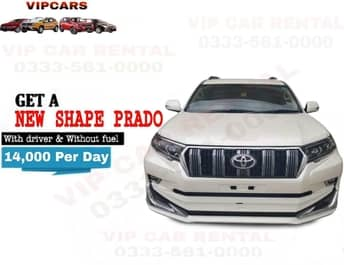 Rent a New Shape Prado islamabad