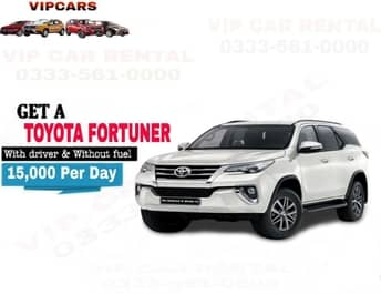 Rent a Toyota Fortuner islamabad