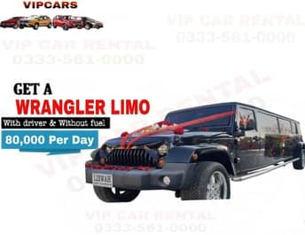 Rent a Wrangler Limo islamabad
