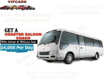 Rent a Coaster Saloon Coach islamabad