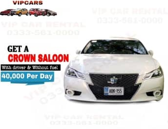Rent a Crown Saloon islamabad