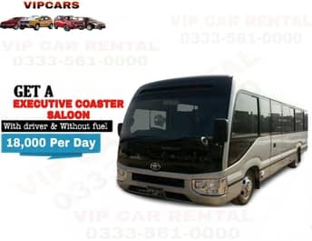 Rent a Executive Coaster Saloon islamabad