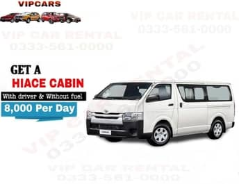 Rent a Hiace Cabin islamabad